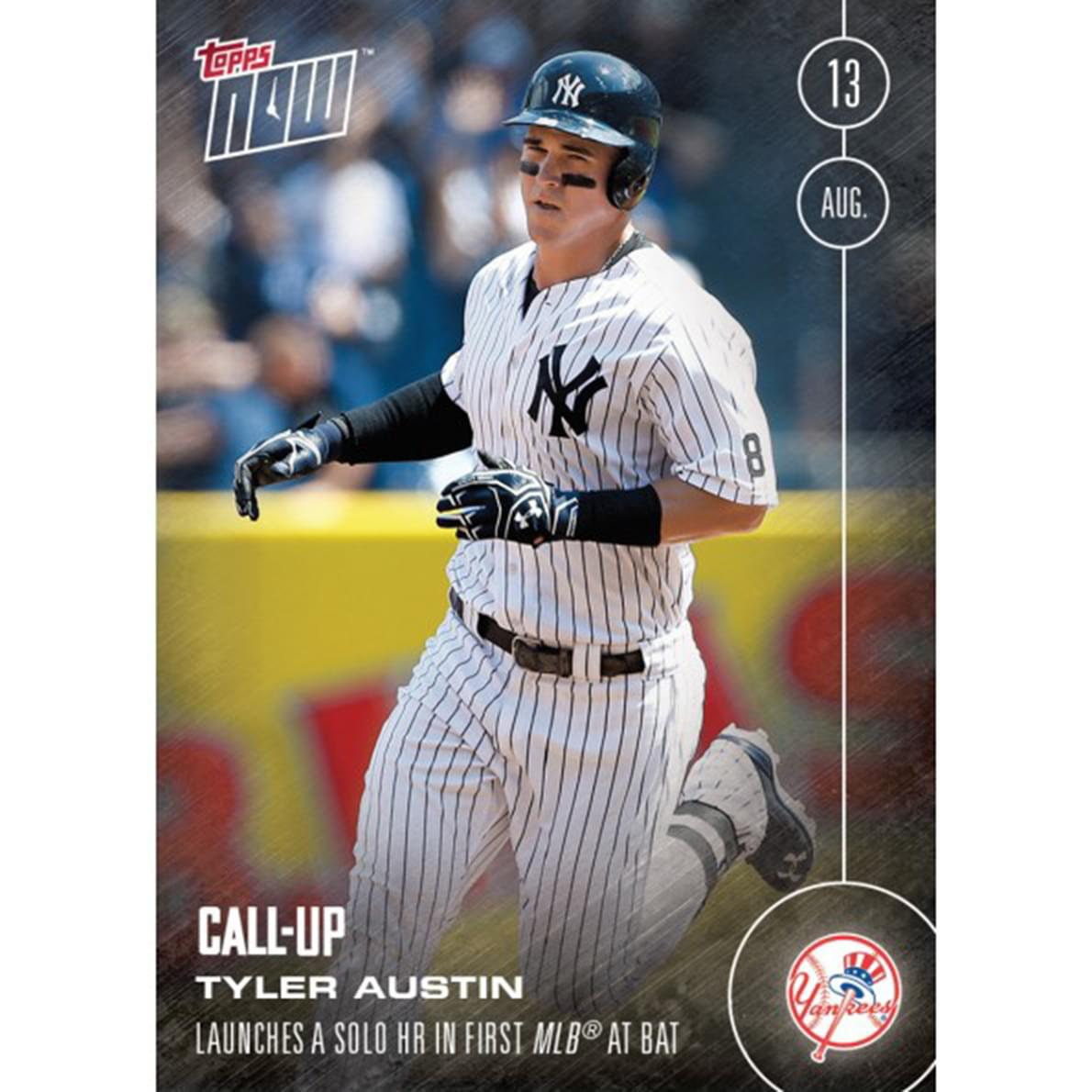 MLB Topps NOW Card 436 NY Yankees Tyler Austin Call-Up Trading Card
