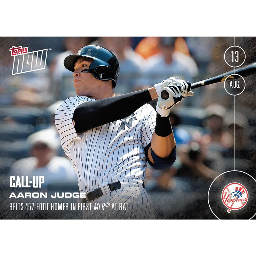 NY Yankees, Aaron Judge (Call-Up) MLB Topps NOW Card 353