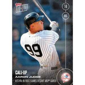 Topps NOW NY Yankees Aaron Judge Call-Up MLB Card 356 Trading Card