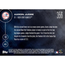 Load image into Gallery viewer, Topps NOW NY Yankees Aaron Judge Call-Up MLB Card 356 Trading Card