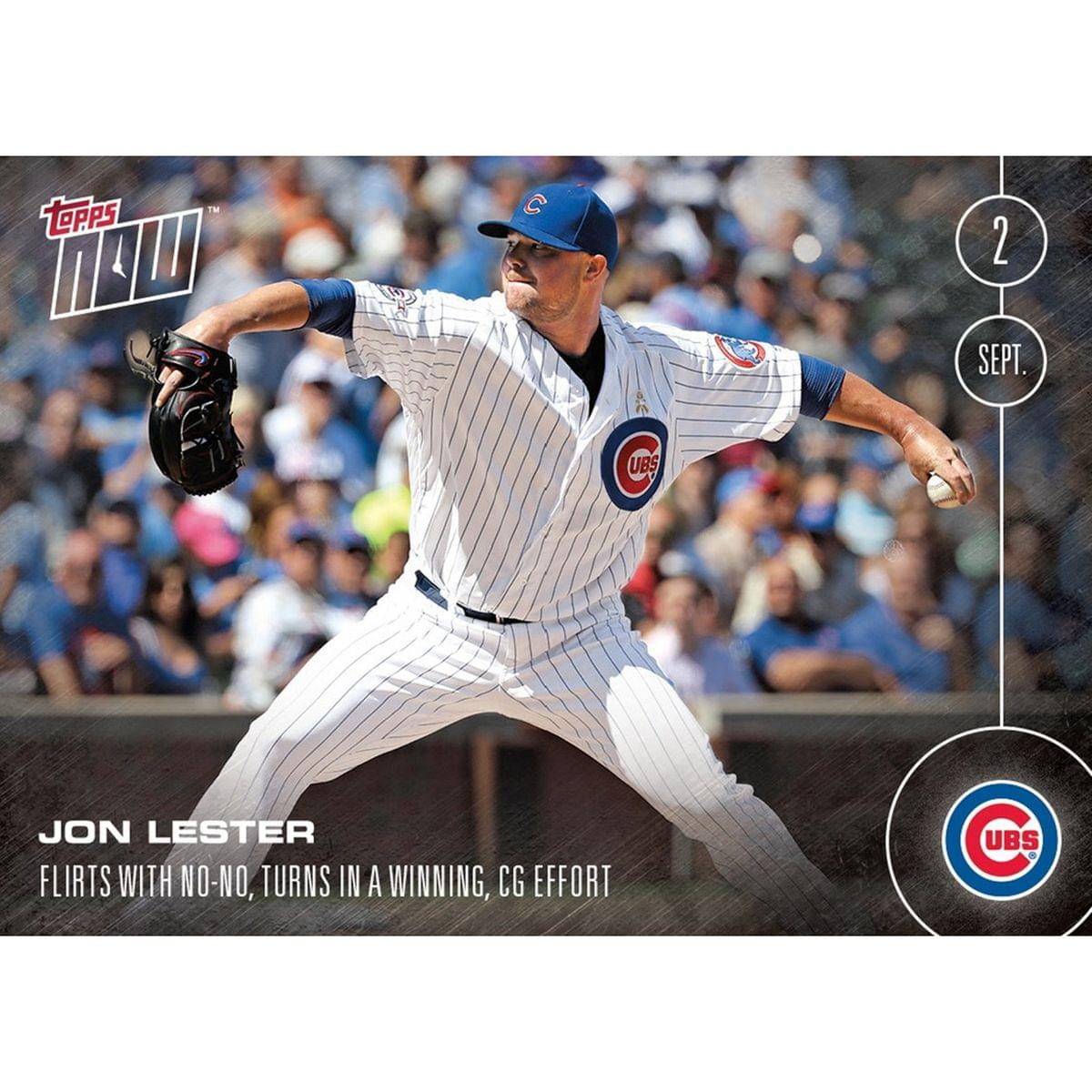 MLB Chicago Cubs Jon Lester #416 Topps NOW Trading Card