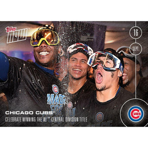 MLB Chicago Cubs Celebrate Central Division Title #460A Topps NOW Trading Card