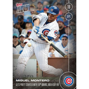 MLB Chicago Cubs Miguel Montero #561 Topps NOW Trading Card