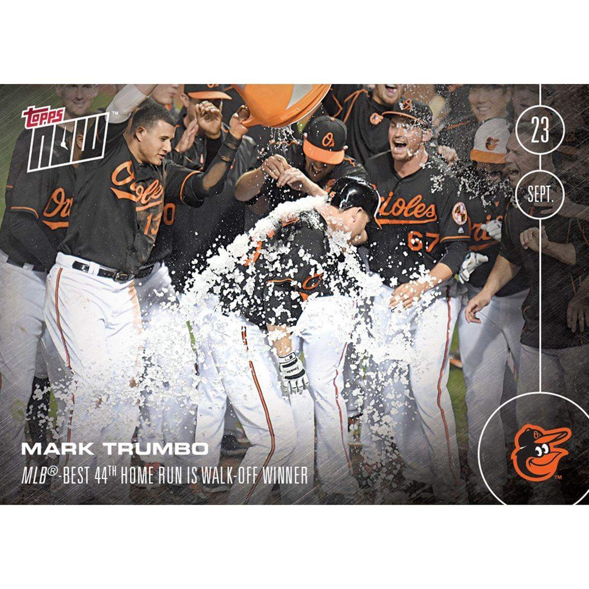 MLB Baltimore Orioles Mark Trumbo #494 Topps NOW Trading Card