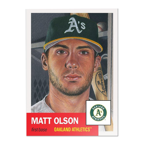 Oakland Athletics #21 Matt Olson MLB Topps Living Set Card