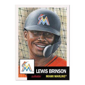 Miami Marlins #33 Lewis Brinson MLB Topps Living Set Card