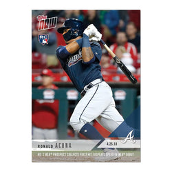Atlanta Braves #125 Ronald Acuna MLB 2018 Topps NOW Card