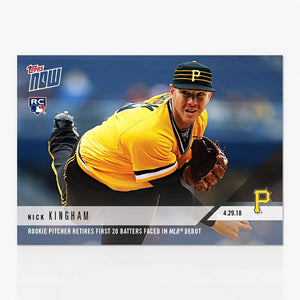 Pittsburgh Pirates MLB Nick Kingham TOPPS NOW Trading Card #141