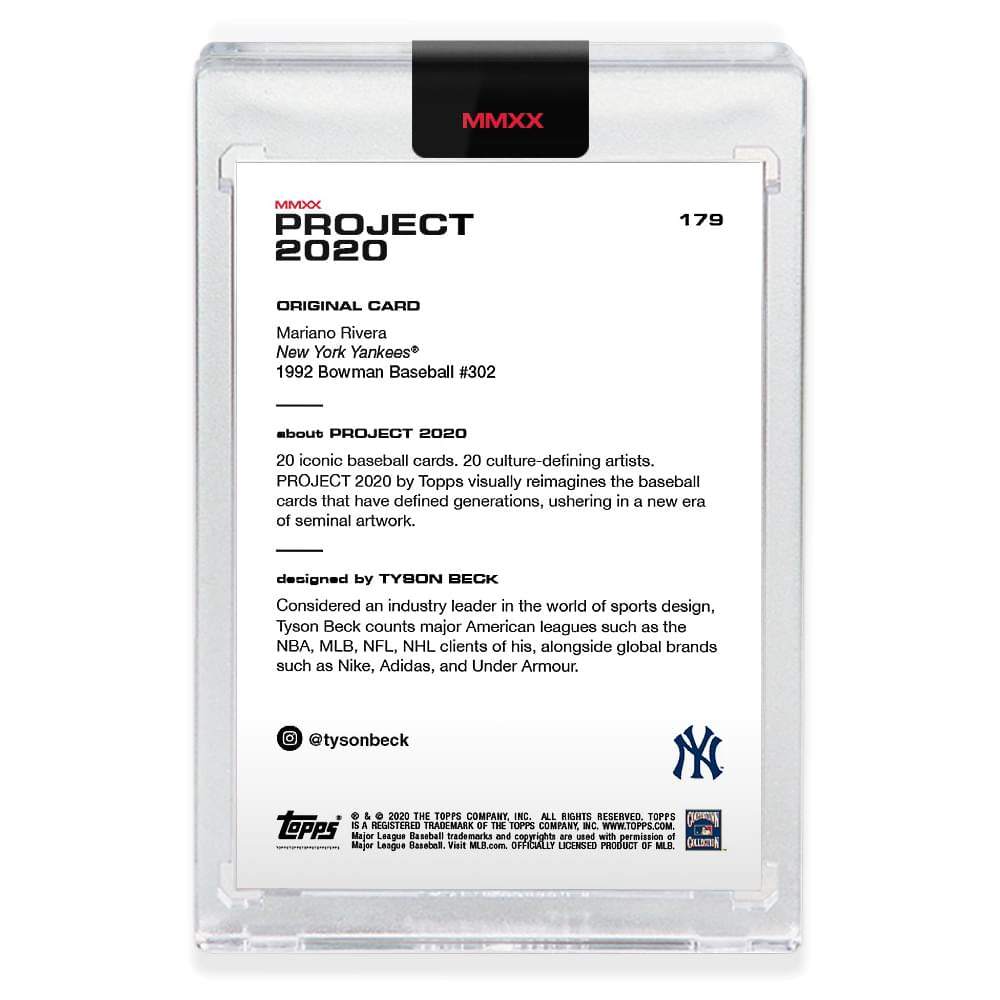Topps PROJECT 2020 Card 179 - 1992 Mariano Rivera by Tyson Beck