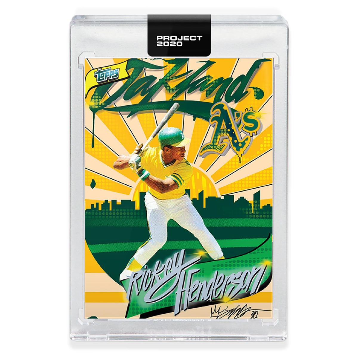 Topps PROJECT 2020 Card 273 - 1980 Rickey Henderson by King Saladeen
