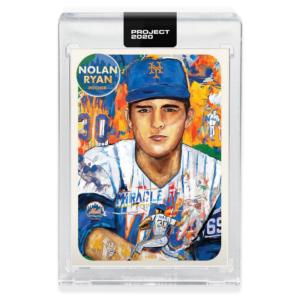 Topps PROJECT 2020 Card 67 - 1969 Nolan Ryan by Andrew Thiel