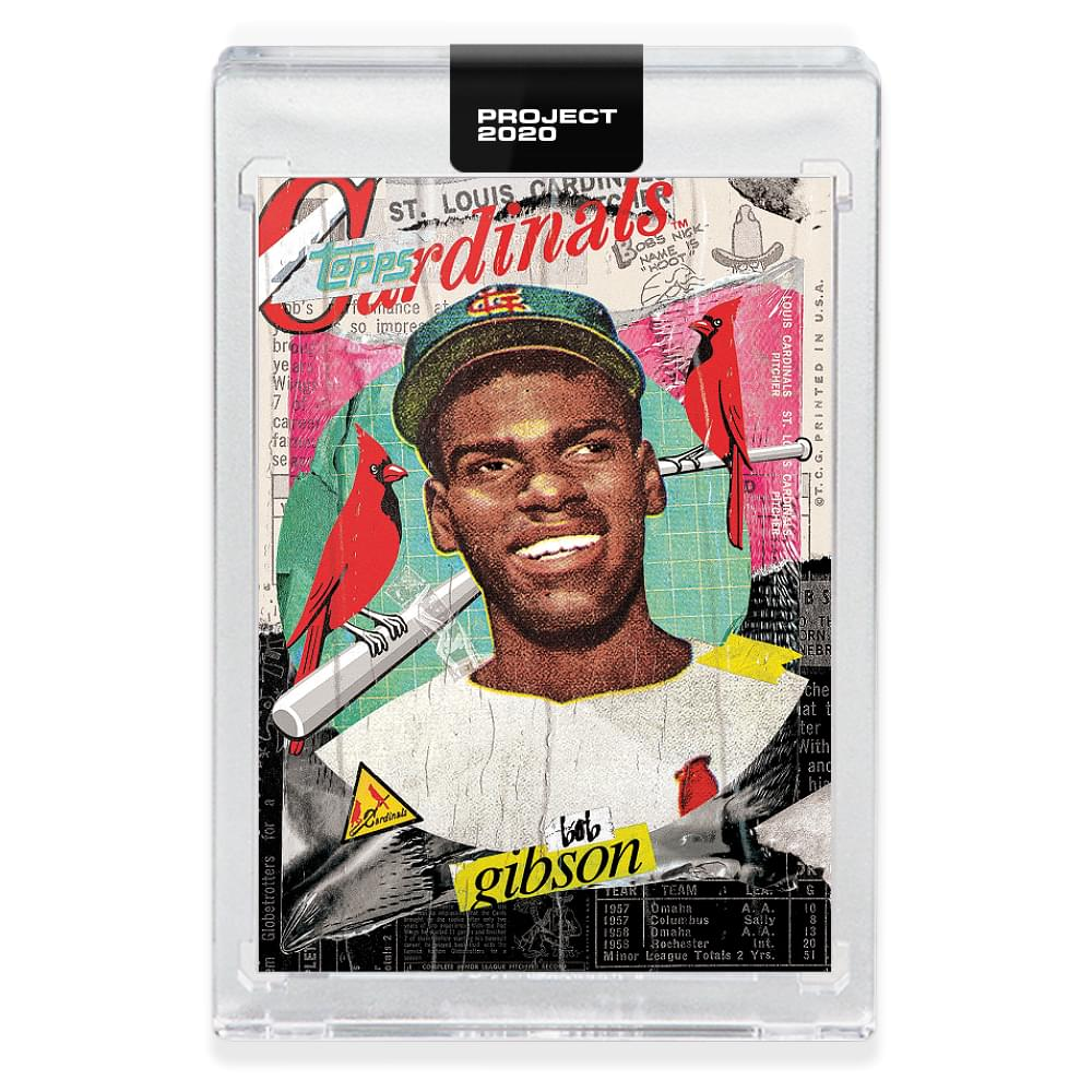 Topps PROJECT 2020 Card 70 - 1959 Bob Gibson by Tyson Beck