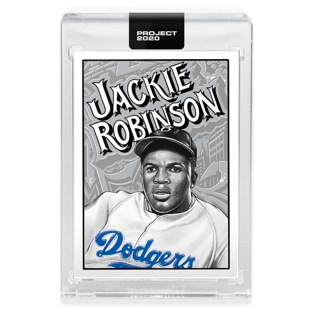 Topps PROJECT 2020 Card 79 - 1952 Jackie Robinson by Mister Cartoon