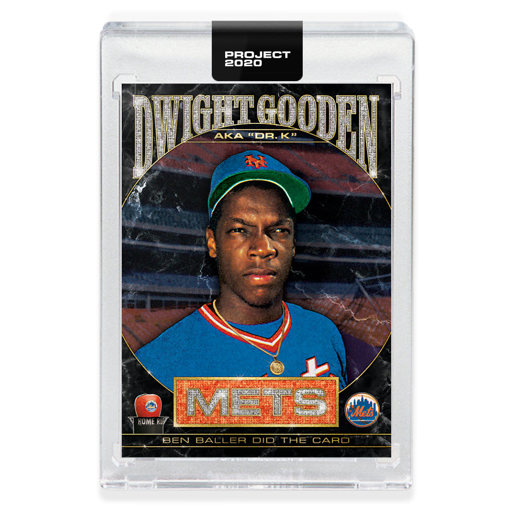 Topps PROJECT 2020 Card 86 - 1985 Dwight Gooden by Ben Baller