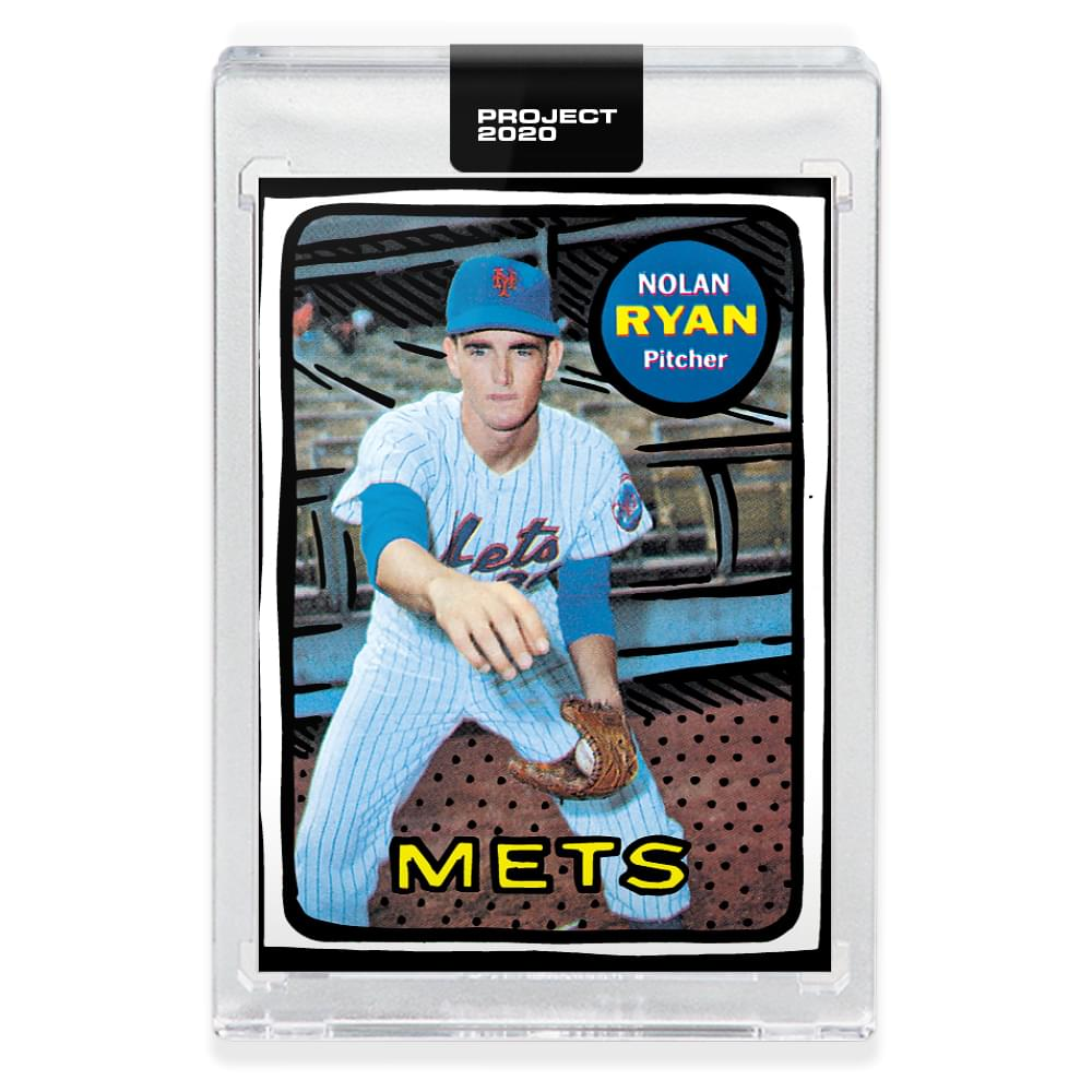 Topps PROJECT 2020 Card 87 - 1969 Nolan Ryan by Joshua Vides