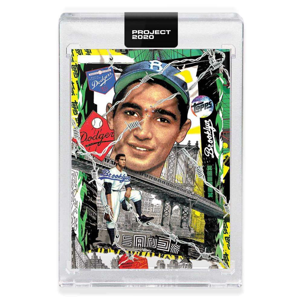 Topps PROJECT 2020 Card 99 - 1955 Sandy Koufax by Tyson Beck
