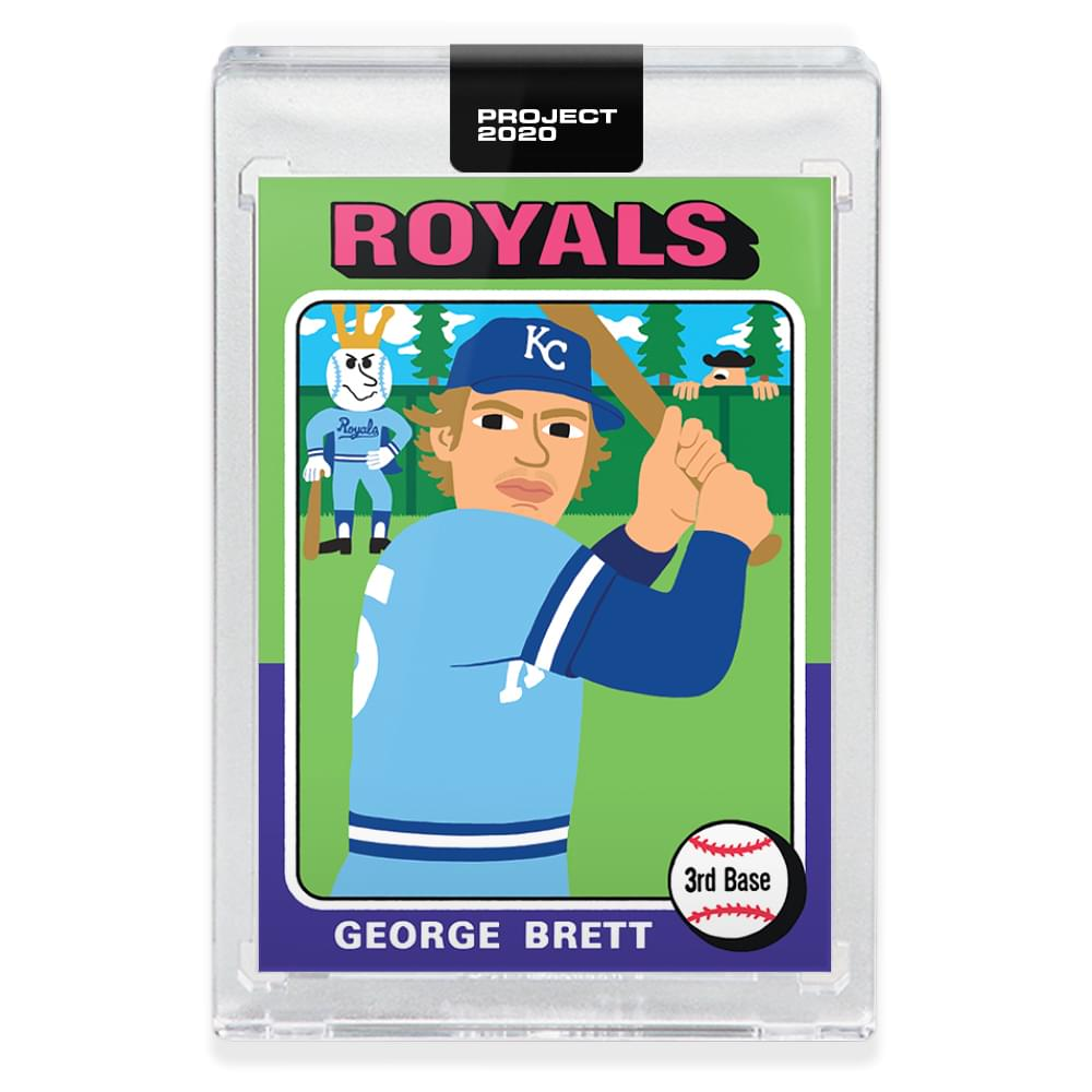 Topps PROJECT 2020 Card 102 - 1975 George Brett by Keith Shore
