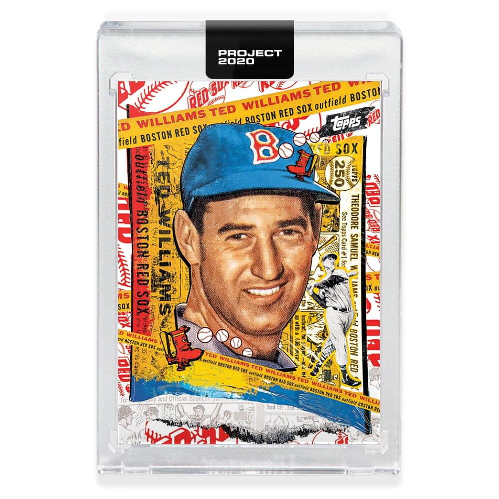 Topps PROJECT 2020 Card 122 - 1954 Ted Williams by Tyson Beck