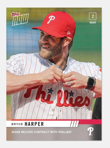 Philadelphia Phillies Bryce Harper MLB Topps NOW Card ST-3