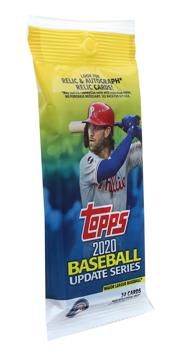 2020 Topps Baseball Update Series 34-Card Hanger Pack