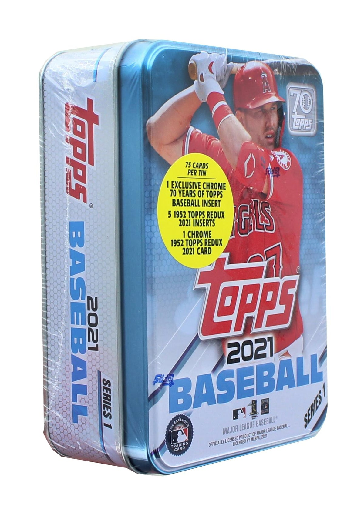 MLB 2021 Topps Series 1 Baseball Tin | 75 Cards