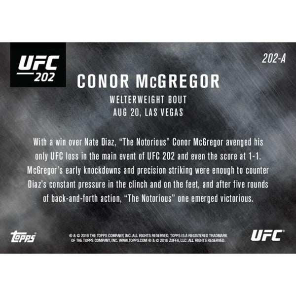 McGregor Defeats Diaz In Epic Rematch UFC Topps NOW Card 202