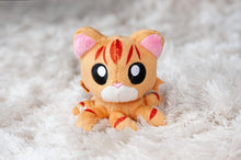 "Load image into Gallery viewer, Tentacle Kitty Little Ones 4"" Plush: Orange Tabby"