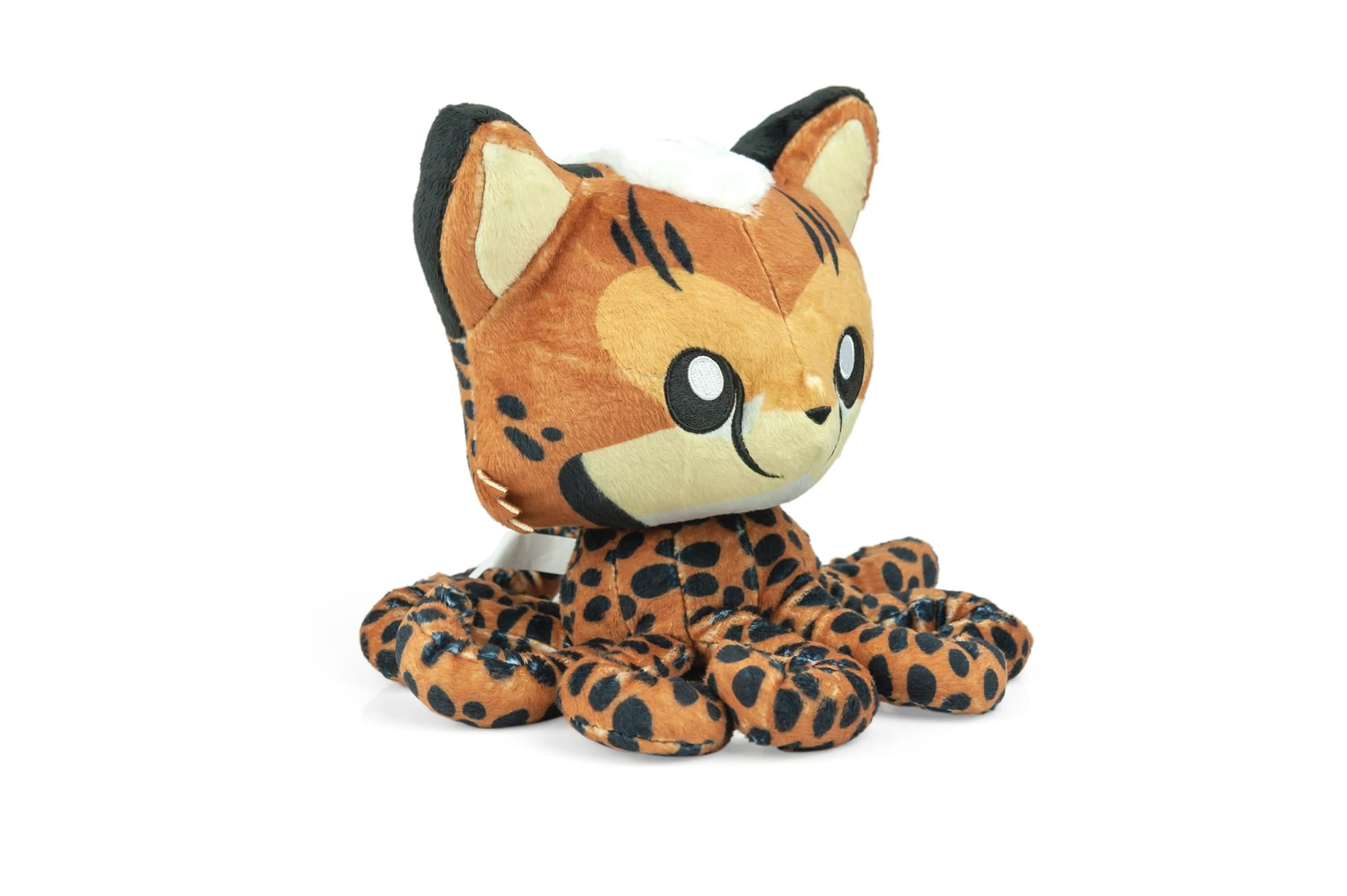 Tentacle Kitty Series Cheetah Kitty Plush Collectible | Measures 8 Inches Tall