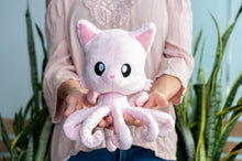 Load image into Gallery viewer, Tentacle Kitty Cotton Candy Scented Pink Plush Collectible | Measures 8 Inches Tall