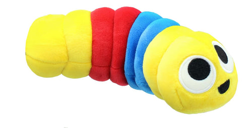 Slither.IO 8 Inch Bendable Plush | Yellow/Blue/Red