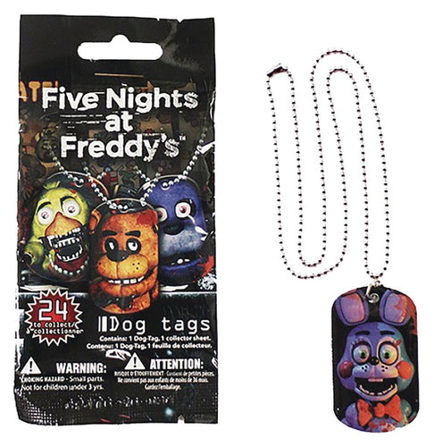 Five Nights At Freddy's Blind Bag Dog Tag - One Random