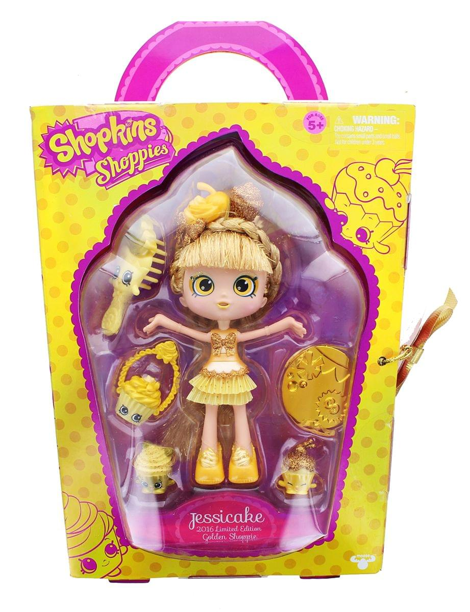 Shopkins Exclusive Jessicake Shoppies Golden Cupcake Doll