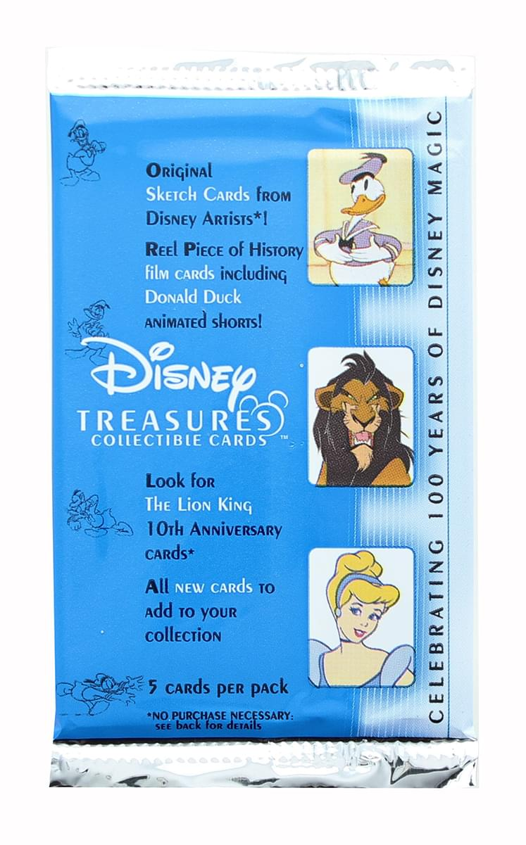 Disney Treasures Series 2 Upper Deck Trading Cards Box Set - 24 Packs