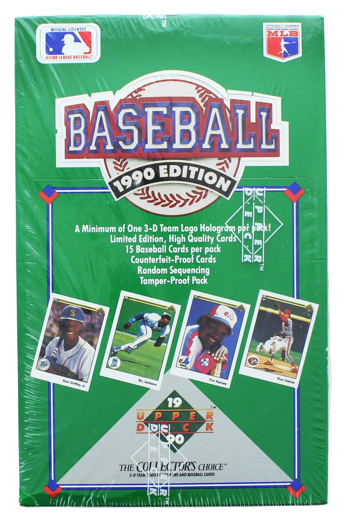 1990 Upper Deck Baseball Trading Cards Low Series Factory Sealed Wax Box