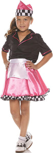 50'S Car Hop Child Costume, Large