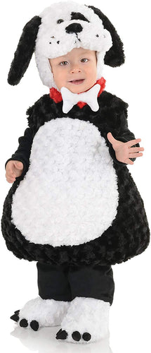 Belly Babies Black And White Puppy Plush Child Toddler Costume