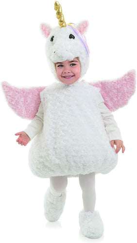 White Unicorn Belly Babies Toddler Costume