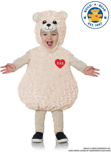 Build-A-Bear Happy Hugs Teddy Belly Baby Toddler Costume