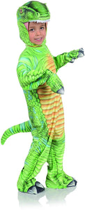 Green T-Rex Printed Child Costume Jumpsuit