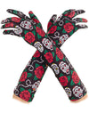 Day of the Dead Opera Length Costume Gloves