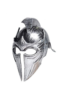 Gladiator Point Helmet Silver Adult Costume OS