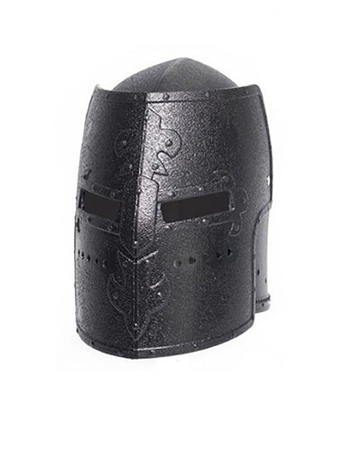 Knight Box Helmet Black Adult Costume OS