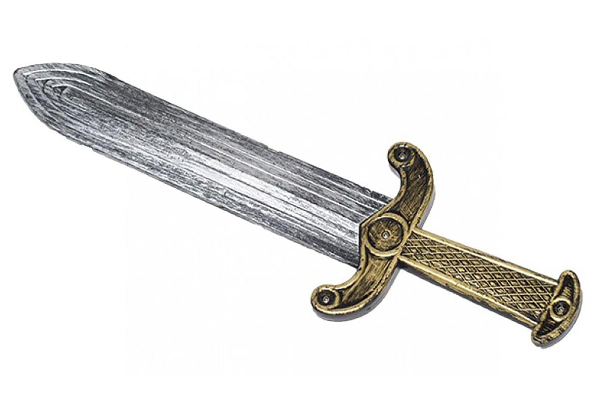 Roman Dagger Gold / Silver Solid Handle Adult Costume OS