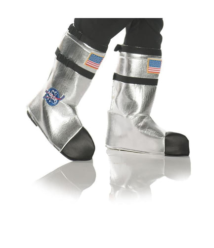NASA Astronaut Adult Costume Boot Tops - One Size- Silver