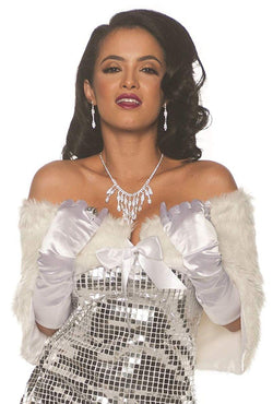 Faux Fur Adult Costume Wrap - White - OS
