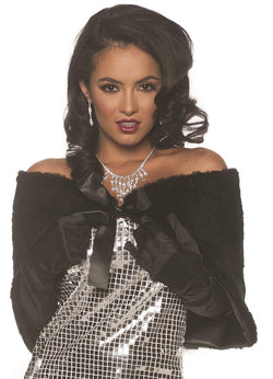 Faux Fur Adult Costume Wrap - Black - OS