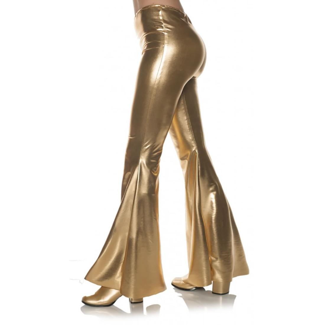 70'S Gold Metallic Bell Bottoms Adult Costume