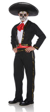 Mariachi Skull Male Adult Costume