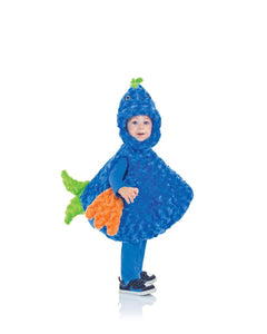 Belly Babies Big Mouth Fish Costume Child Toddler: Blue & Green