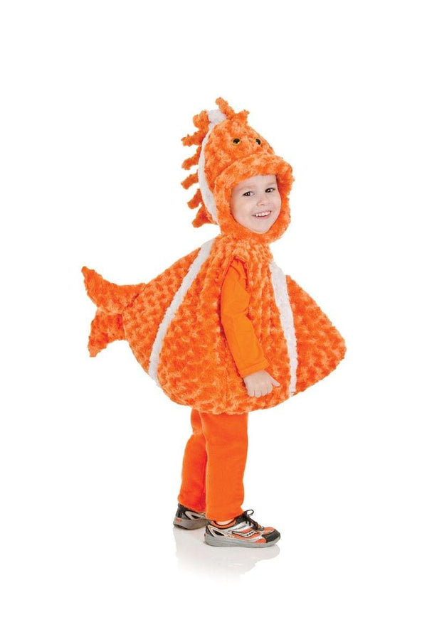 Belly Babies Big Mouth Clown Fish Costume Child Toddler: Orange/White